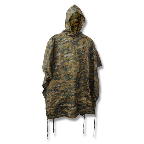Tru-Spec Rain: GI Spec Military Poncho - Woodland Digital