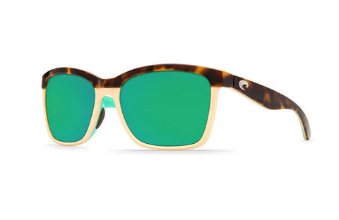 Costa Del Mar Anaa Retro Tort / Cream / Mint Sunglasses Green Lens 580P