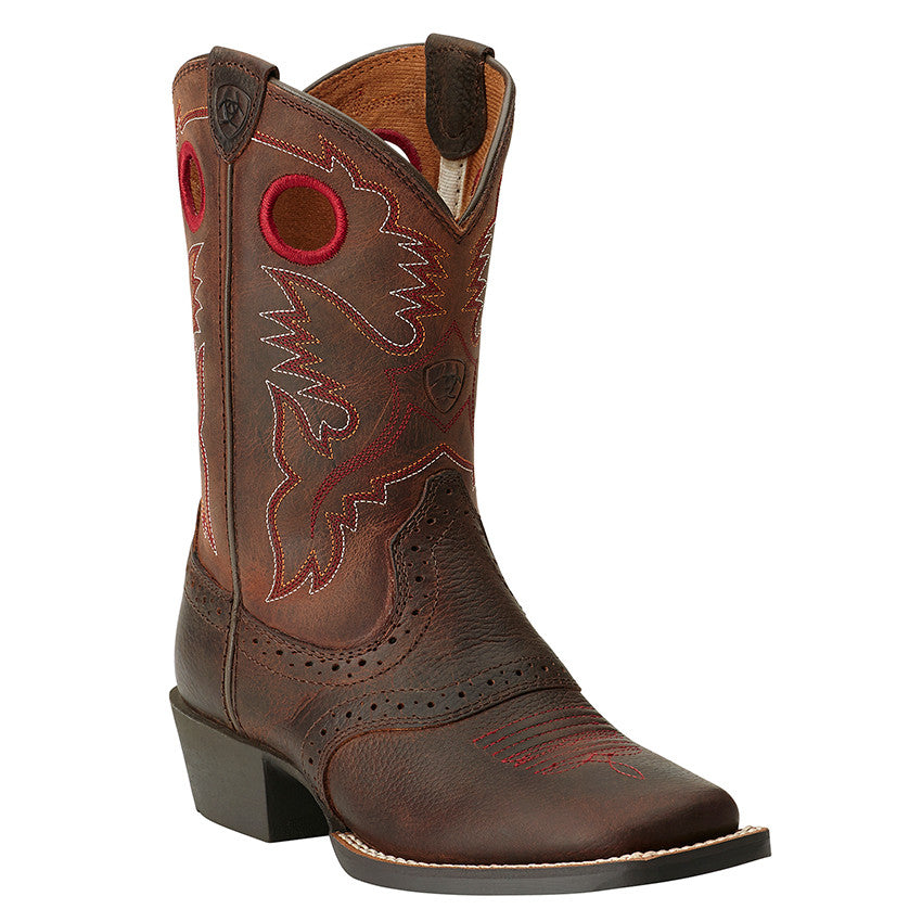 Ariat Boots: Kid's Square Toe Roughstock Western Boots