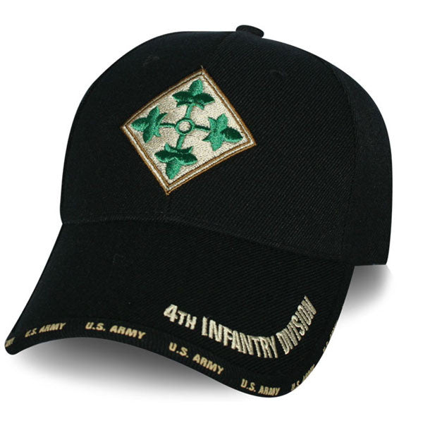 MP Hats: 4th Infantry Division 3D Multi Position Embroidered Ball Cap