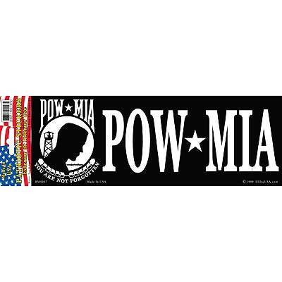 "Sticker: POW - MIA (3-1/4""X9"")"