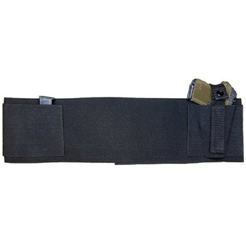 Belly Band With 2 Mag Pouches- Black