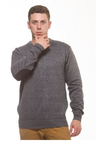 ECKO UNLTD Men's Marled V-Neck Long sleeve Pullover With Elbow Patch