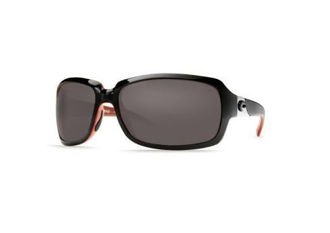 Costa Del Mar Isabela Polarized Sunglasses, Black Coral, Gray 580p