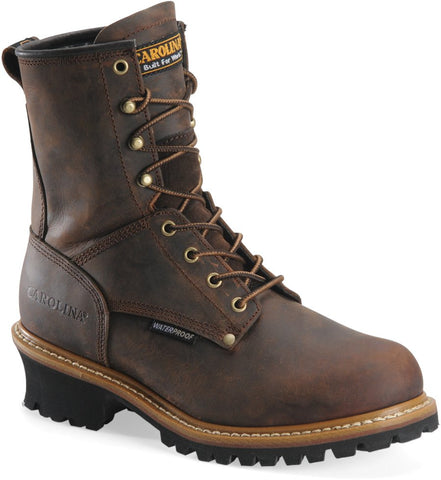 "Carolina Men's 8"" Steel Toe Waterproof Logger"