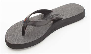 Rainbow Women's The Cottons - Soft Rubber Topsole Black Tapered Strap