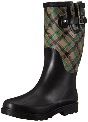 Western Chief Women's Carissa Plaid Rain Boots Grey