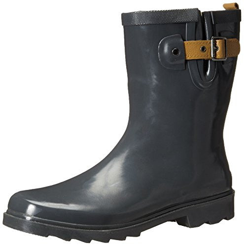 Chooka Women's Top Solid Mid Rain Boot, Charcoal