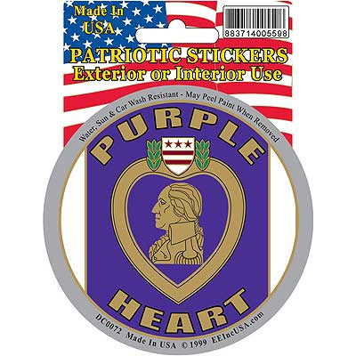 "Sticker: Purple Heart (3-1/4"")"