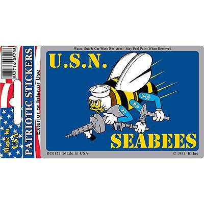 "Sticker US Navy Seabees (3""X4"")"