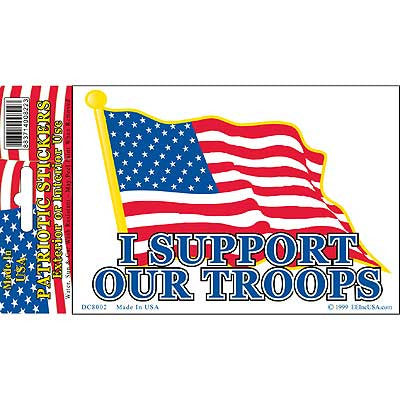"STICKER: SUPPORT OUR TROOP (CLEAR VINYL) (4"")"