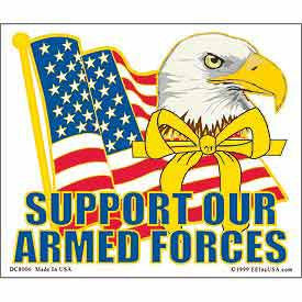 "STICKER: SUPPORT ARMED FRC (CLEAR VINYL) (4"" X 4-3/4"")"