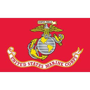 FLAG-USMC Poly-Cotton (3ftx5ft) MADE IN USA .