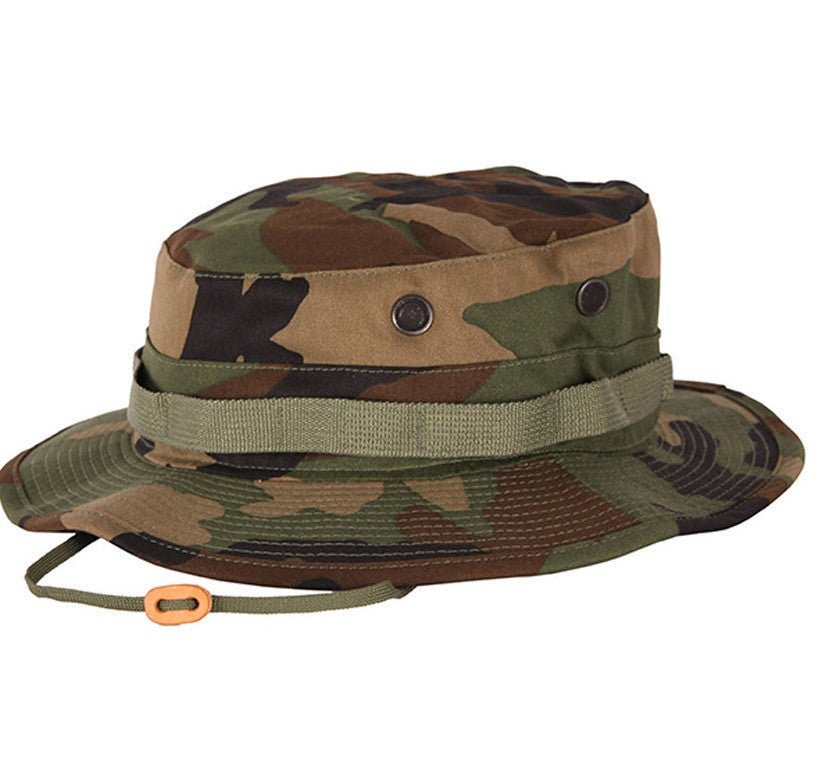 Propper Hats: Boonie Rip Stop H411 Woodland Camo