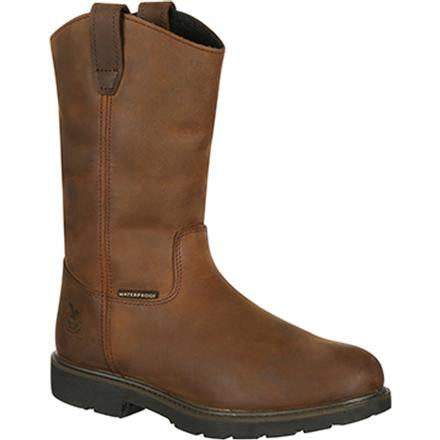 Georgia Boot Men's Suspension System Steel Toe Waterproof Wellington - Brown