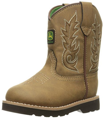 John Deere Inf All Over Po Pull-on Boot Toddler - Tan