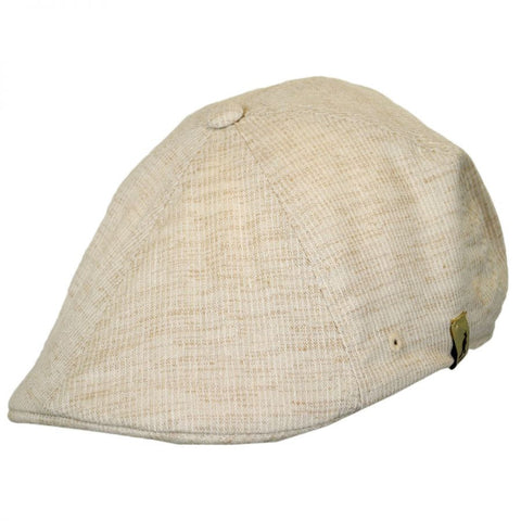 Kangol Hats: Plaid Flexfit 504 Ivy Cap - Natural Pinstripe