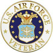 "Pins: USAF - Air Force EMBLEM VETERAN (1"")"