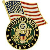 "PIN: ARMY/FLAG & SYMBOL (1-1/4"")"