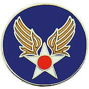 "Pins: USAF - Air Force, ARMY/AIRCORP AAF (1"")"
