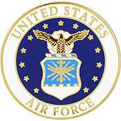 "Pins: USAF - Air Force EMBLEM B (SML) (3/4"")"