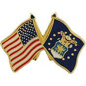 "Pins: USAF - Air Force, FLAG, USA/USAF,SM (1"")"