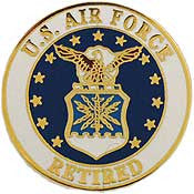 "Pins: USAF - Air Force EMBLEM RETIRED (15/16"")"