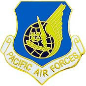 "Pins: USAF - Air Force PACIFIC AIR CMD. (1"")"