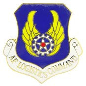 "Pins: USAF - Air Force, LOGISTICS CMD. (1"")"