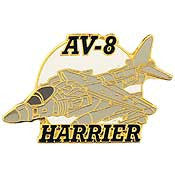 "Pins: USAF - Air Force APL , AV-8 HARRIER (1-1/2"")"