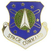 "Pins: USAF - Air Force, SPACE COMMAND (1"")"
