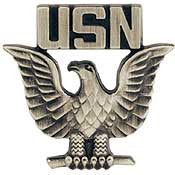 "Pins USN Navy, ENLISTED, PWT (MINI) (3/4"")"