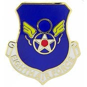 "Pins: USAF - Air Force, 008TH, SHIELD, MIN (MINI) (3/4"")"