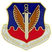 "Pins: USAF - Air Force,TACTICAL AIR CMD (MINI) (3/4"")"