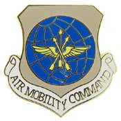 "Pins: USAF - Air Force, MOBILITY CMD (1"")"