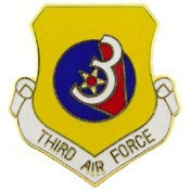 "Pins: USAF - Air Force, 003RD, SHIELD (1"")"