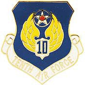 "Pins: USAF - Air Force, 010TH, SHIELD (1"")"