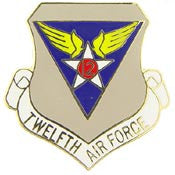 "Pins: USAF - Air Force 012TH, SHIELD (1"")"