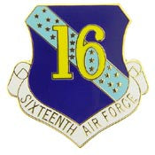 "Pins: USAF - Air Force 016TH,SHIELD (1"")"