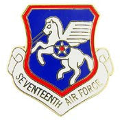 "Pins: USAF - Air Force,017TH,SHIELD (1"")"