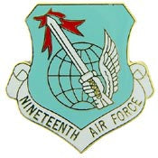 "Pins: USAF - Air Force 019TH, SHIELD (1"")"