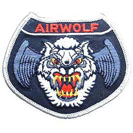 "PATCHES: USAF AIRWOLF (3-1/2"")"