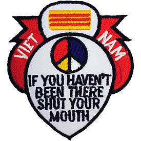 "PATCHES: VIETNAM, IF YOU HAVE W/ VIETNAM FLAG RIBBON (3"")"