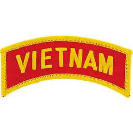 "PATCHES: VIETNAM, TAB (CLR) (1""X3-1/2"")"