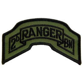 "PATCHES: ARMY TAB RANGER 02ND (SUBDUED) (3-3/4"")"