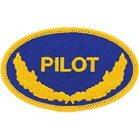 "PATCHES: US NAVY OVAL, PILOT (3-1/2"")"