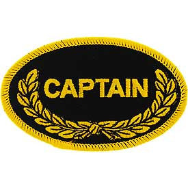 "PATCHES: OVAL, CAPTAIN (3-1/2"")"