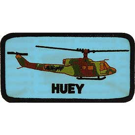 "PATCHES: HELICOPTER HUEY (4-3/8"")"