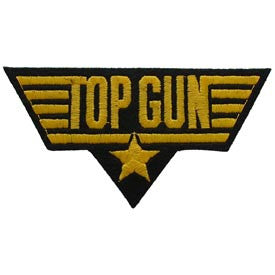 "PATCHES: US NAVY TOP GUN, GOLD (4-1/4"")"