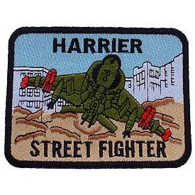 "PATCHES: USMC HARRIER STREET (3-1/4"")"